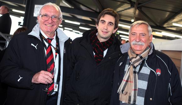 16. Jean-Pierre Charlemagne, Yann Robert, président du LOU Rugby et Roger Cesa, ancien président du LOU Rugby