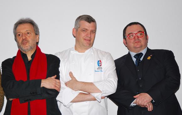 18. Jean-Jacques Billon, Laurent Bouvier (L'Elleixir) et le sommelier MOF Fabrice Sommier