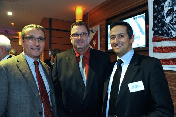 21. Alain Monticelli, président de Spigraph, Philippe Valentin (Groupe Valentin) et Eddy Fernandes (Banque Rhône-Alpes)