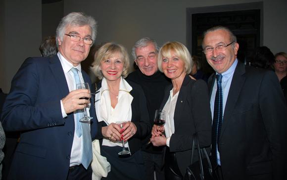 30. Alain et Chantal Tholon, Sergio Peinetti (Soder Vintage Car), Michèle Artige-Dherbey et son époux Marc Dherbey (MDH Conseils)