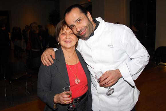 3. Danielle Pierrefeu (Présidente de l'Association Les Gastronomes de Lyon) et Clovis Khoury (Maison Clovis)