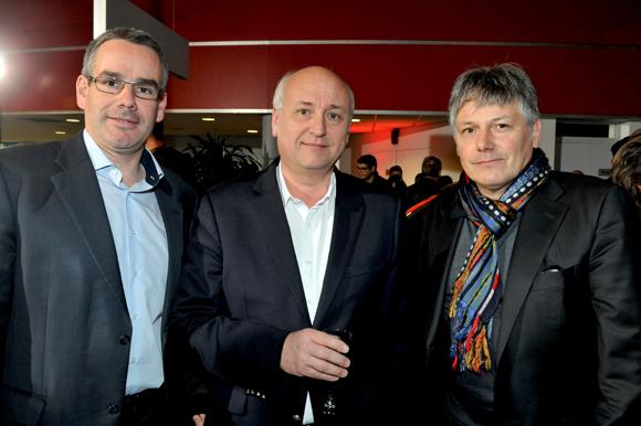 3. Eric Delacroix, Dominique de Saint Leger (Cargo location) et Olivier Delorme, président du Groupe Delorme Automobiles