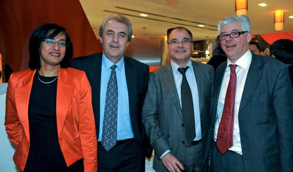 48. Hayette Chavent, Maître Richard Brumm, adjoint aux Finances, Yves Chavent et Maître Philippe Meysonnier