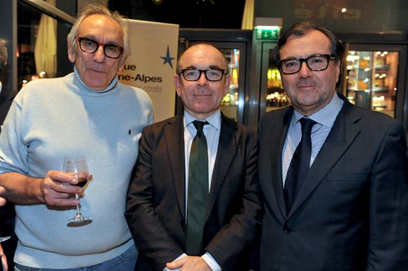 52. Albert Dray (Café du Pond), Yvon Léa, président de la Banque Rhône-Alpes et Thierry Mathieu (Duferco)