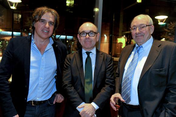 53. Philippe Constantin, PDG de RDS, Yvon Léa, président de la Banque Rhône-Alpes et Marc-Antoine Chatagnon
