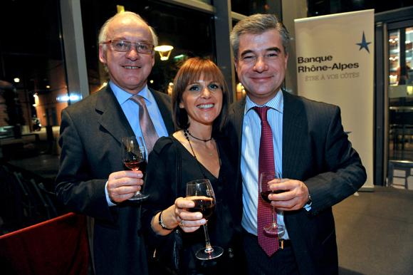 59. Xavier Bardet, Sylvaine Lesage et Eric Lesage, vice-président de la Banque Rhône-Alpes