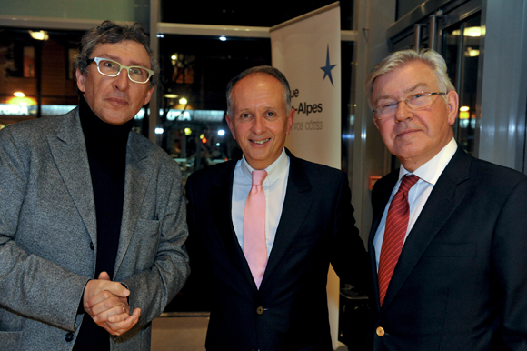 60. Bernard Reybier, président de Fermob, Eric Vernusse (Banque Rhône-Alpes) et Vincent Labruyère, président du Groupe Labruyère