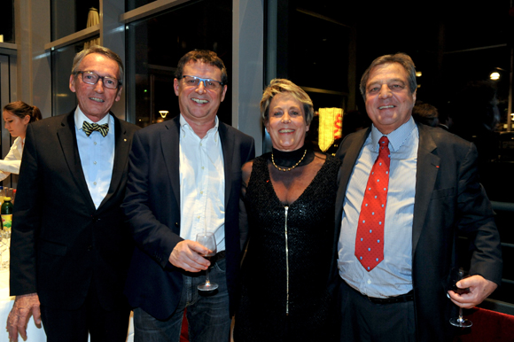 61. Bruno Dufour, consul d'Equateur, Eric Giraud (Antonin), Carole Dufour (Idées en Tête) et François Turcas, président de la CGPME du Rhône