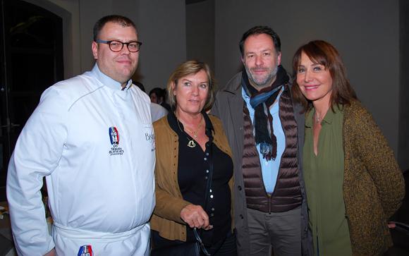 6. Julien Le Guillou (Bistrot Jul), Marie-Noelle Pedrini (coachée par Cyril Marlard), Bruno Bluntzer (Maison Sibilia) et Françoise Petit (Lyon People)
