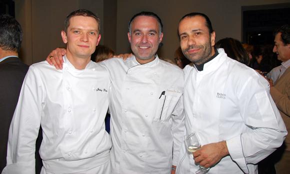 9. Jeremy Ravier (Radisson Blu et L'Arc-en-ciel), Francis Da Silva (Champion de France de cuisine amateur 2013) et Clovis Khoury (Maison Clovis)