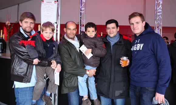 9. Philippe Lesenechal (Aximum), Martin, Benoit Lamand (Vinci Construction), Augustin, Olivier Sega (Sanofi) et Quentin Chaperon (U'Wine)