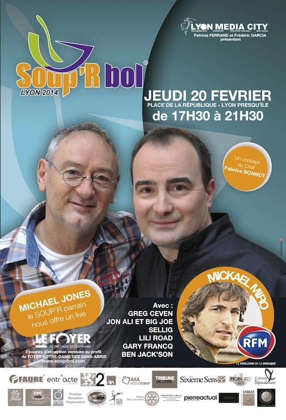 Soup'R Bol 2014. Fabrice Bonnot et Michael Jones se mobilisent