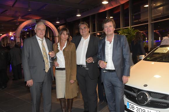 14. Bernard Trux, Axelle (Lyon People) Frédéric Bouillé , Directeur Général Mercedes-Benz & smart Lyon  et Hervé Bal (Editions HB)