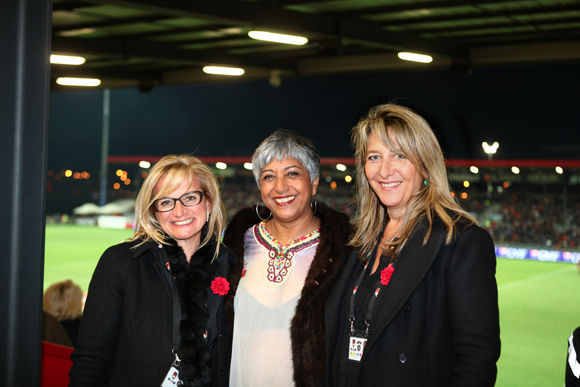 21. Valérie Fetaud, Djamila Calla (Groupe Lagardère) et Catherine Arbaud (LOU Rugby)