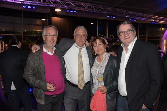 22. Guy Bonnet-Piron, son épouse Michèle, Bernard Trux (Mercedes-Benz) et Gilbert Reboul (Golf de Vilette d'Anton)
