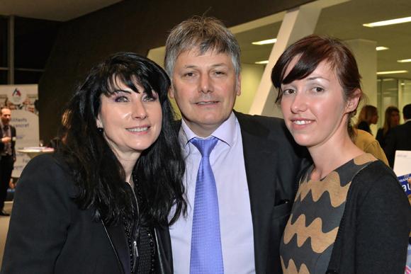 25. Catherine Delorme,  Olivier Delorme (Président du Groupe Delorme) et Camille Arthaud