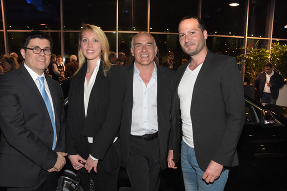 36. Frédéric Blanc (Directeur commercial, Mercedes-Benz & smart Lyon), Marion, Philippe Maquin et Christophe Magnette (Spirit Communication)