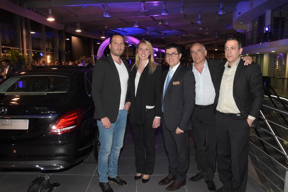 38. Christophe Magnette (Spirit Communication), Marion, Frédéric Blanc (Directeur commercial, Mercedes-Benz & smart Lyon), Philippe Maquin et Djamel Bouraya  (Spirit Communication)