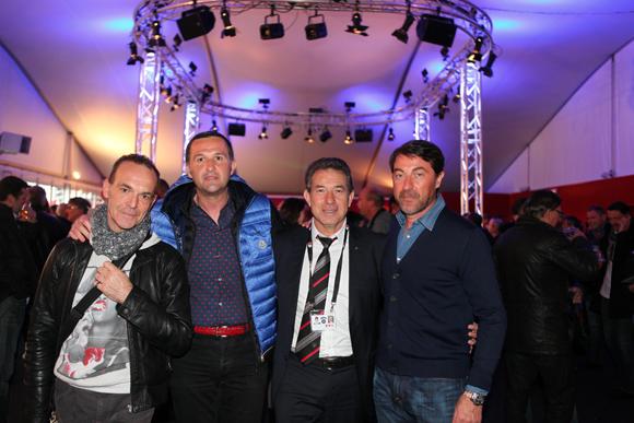 5. Alain Rico, photographe, Patrice Martinez (Limpa), Jean-Claude Pietrocolla (Media Sport Promotion) et Martial Gorjux (Serely)