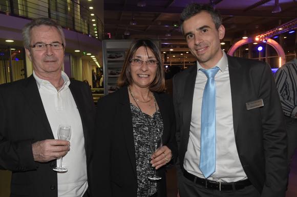 9. Jean-Paul Chanel, son épouse Anne-Marie (Vinci construction France) et Adrien Roger (Mercedes-Benz)