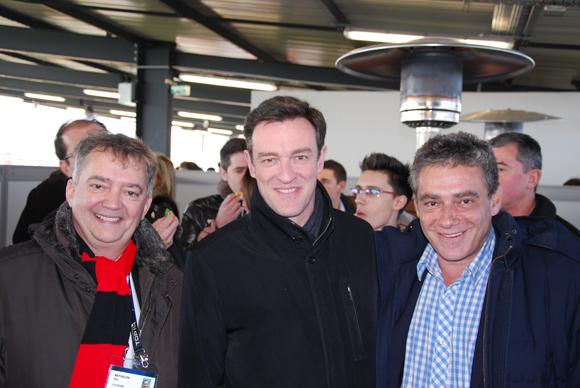 4. Guy Mathiolon (LOU Rugby), Michel Havard  (candidat à la mairie de Lyon) et Didier Pesson