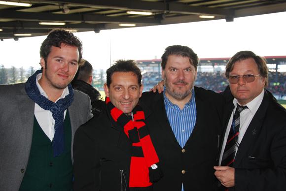 7. Baptiste Morel et Laurent Lipari (United Players), Stéphane Passaris (HOP! AIRFRANCE) et Franck Isaac-Sibille (LOU Rugby).