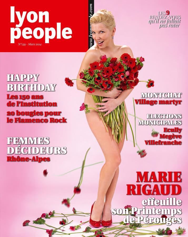 Marie Rigaud en couverture du magazine Lyon People de mars