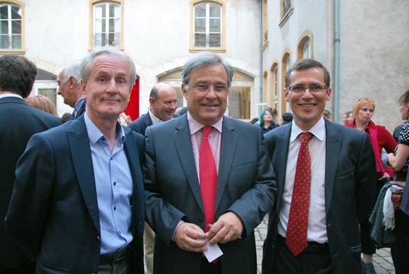 10. François Royer, conseiller d'arrondissement du 2e, Emmanuel Imberton, président de la CCI et Alain Fauveau, directeur général de la CCI