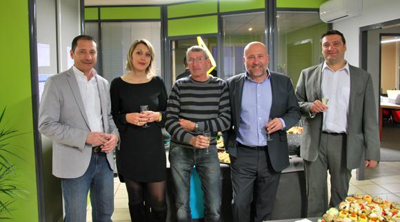 1. L'équipe de Setreal : Yvan Fatrara, Magena Moulin, Allain Allais, Jean-Luc Remilly et Marcel Prolange