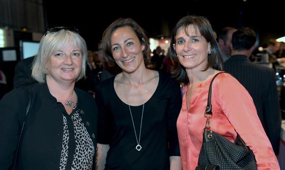 1. Coryne Nicq (Entrepreneurs d'avenir), Sylvie Madamour (Vendredi 4) et Laetitia Pepino (Pack Event organisation)