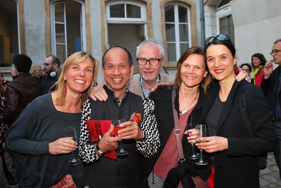 15. Sophie Gaillard (Pépite graphique), Olivier Pran (Restaurant Le ptit grain), Hugo, Cécile Faysse (MAC) et Isabelle Bretones (Régie du Musée)