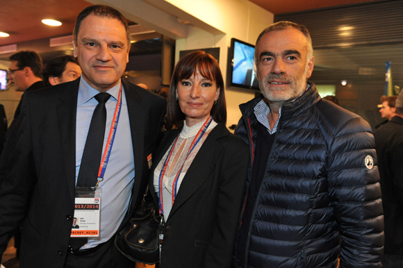 16. Serge Bex (OL), son épouse Catherine (Champagne Duval-Leroy) et Christian Coulot (Renault Lyon Ouest)
