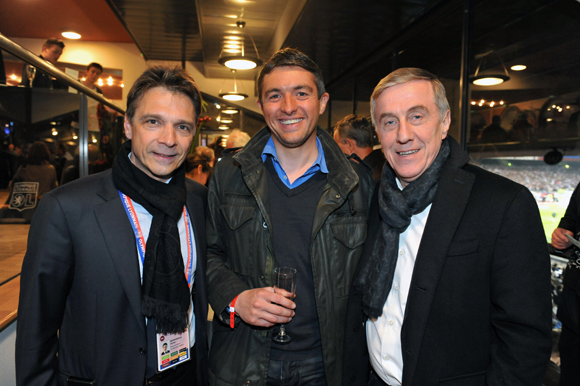 21. Olivier Bernardeau (OL), Hervé Ollien (Samsung) et Patrick Bertrand (Cegid)