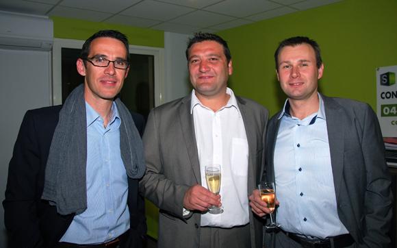 21. Jean-Philippe Barral (Groupe Bernard), Marcel Prolange (Setreal) et Philippe Calandrini (Groupe Bernard)