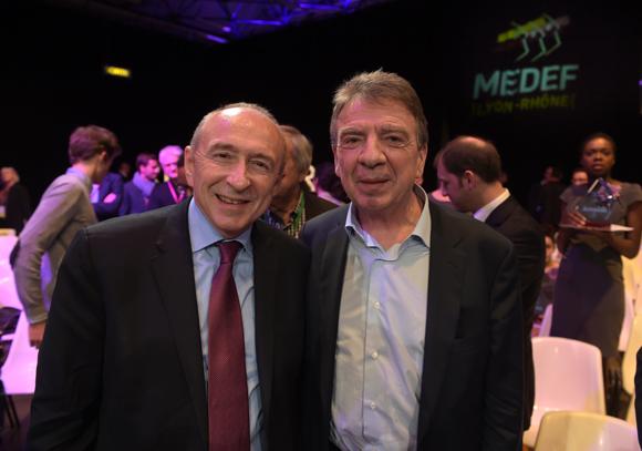 21. Gérard Collomb, sénateur maire de Lyon et Bernard Fontanel, président du Medef Lyon Rhône