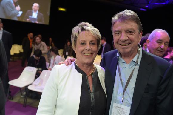 22. Carole Dufour (Idées en Tête) et Bernard Fontanel, président du Medef Lyon Rhône
