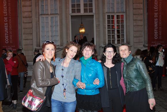 23. Mano Salomon, Claire Monnet et Martine Laporte, Sylvie Barrault et Christelle Paillard l'équipe de maquillage et coiffure de l'Opéra de Lyon