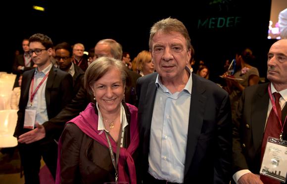 23. Marie Guyon et Bernard Fontanel, président du Medef Lyon Rhône