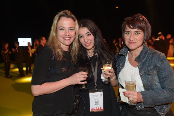 28. Sandra Eysseric (Medef), Agnès Chorfi et Mirella Launay (Le tout Lyon)
