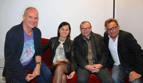 31. Le designer Hartmut Bretz, Sandrine Chausson, Jacques Chalvin (Les Puces du Canal) et Pierre-Yves Gas (Proxicom)