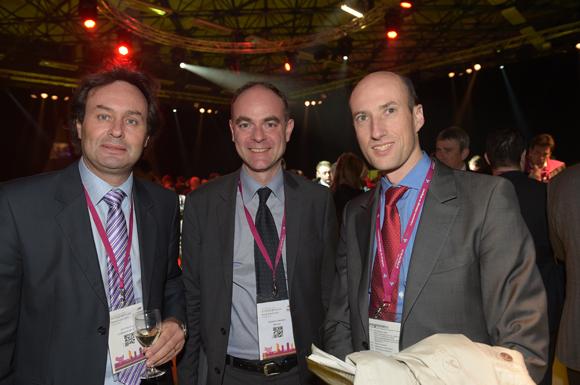 35. Cyril Courjaret (Lyonnaise des eaux), Guillaume Normand (GDF Suez) et Martin Guespereau (Agence de l'eau Rhône méditerranée Corse)