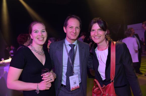 50. Cécile de Gaudemaris (Mazars), Jérôme Consti (Groupe FBI) et Elisabeth Rousseau (Mazars)