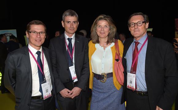 61. Alain Faveau (CCI de Lyon), Eric Le Jaouen (Medef), Florence Poivey, présidente du Prisme et Alain Huet (Medef)