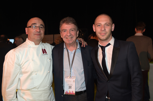 63. Le traiteur Franck Sucillon, Bernard Fontanel et Alex Villard (Caffé Milano Marronniers)