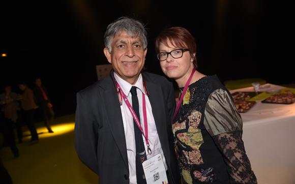 64. Manan Atchkezai, président de la SFIP et Sandrine Neuzeret (SFIP Sécurité)