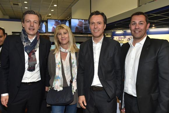 6. Pascal Blache, maire du 6ème et son épouse Chrystelle, Thierry Mestrallet (Tedd connexion) et Arnaud Gauduel (Gauduel)