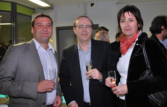 6. Marcel Prolange (Setreal), Christian Morel (La Voûte chez Léa) et Catherine Alleysson (PCAS)