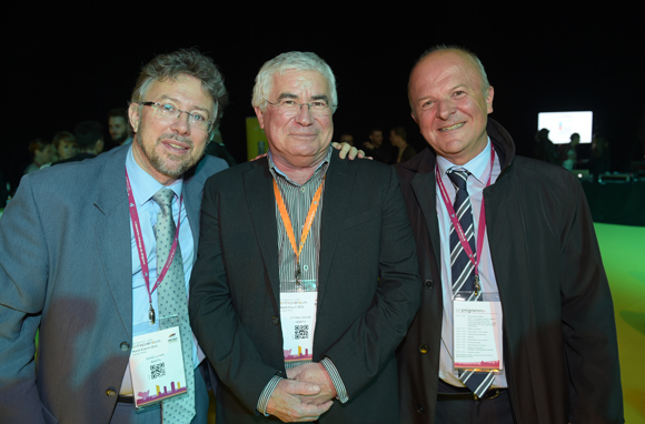 68. Olivier Luisetti (Inartis), Christian Donzel (Visiativ) et Bernard Thollin (Electricfil)