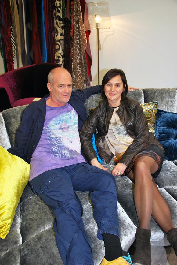 7. Le designer Hartmut Bretz et Sandrine Chausson, responsable de la boutique Raphaele