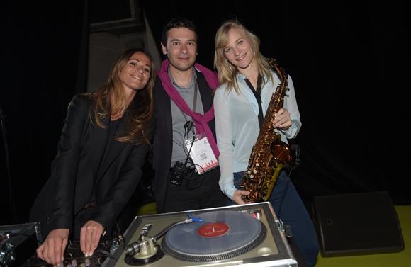 74. Les « Sisters » Patricia, Nora et Cédric Diogon (Medef)